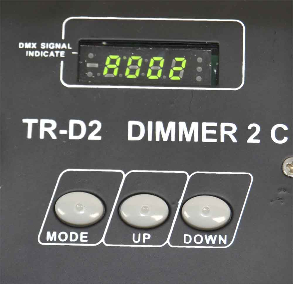 DIMMER DMX 2 CANALES. TR-D2