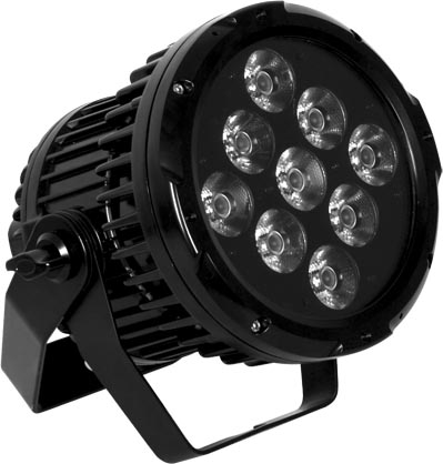 Proyector WALLY 9D, 9 LED x 10w RGBW